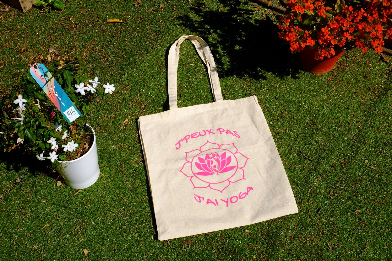 textil'lumineux sac tote bag yoga zen citations personnalisé (1)